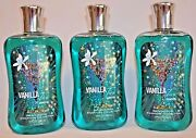 3 Bath And Body Works Vanilla Tini Signature Collection Shower Gel 10oz New
