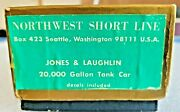 Nwsl Ho Brass Jones And Laughlin 3 Dome Tank Car + Ob + Foam + Champ Decals