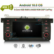 Android 10.0 Car Radio Stereo Dvd Gps Sat Navi For Bmw 3er E46 M3 Mg Zt Rover 75