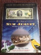 New England Mint Colorized 2 2 Dollar Bill New Jersey