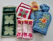 11 Hawaiian Quilt Bundle Coin Purses Tissue Covers Oven Mitts Letter/pot Holders