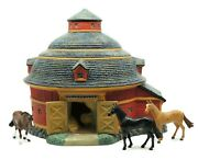 Lang And Wise 1st Ed 1996 Meadowbrook Farms Red Round Barn Full Scale Has Box