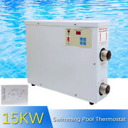 Swimming Pool Thermostat 15kw Electric Spa Hot Tub Water Heater Temp Max.55℃ De