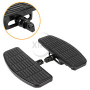 2x Rubber And Steel Front Rear Foot Board Pedal For Harley Electra Glide Efi Flhti