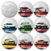 2020 50 Cents 60 Years Of Australian Supercars -  9 Coin Collection In Tin