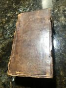 Vintage Book Latin Religious 1778 Original 484 Pages Leather Back Rate Must C