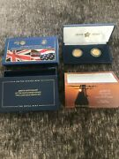 400th Anniversary Of The Mayflower Voyage Two-coin Gold Proof Set 20xa 10 Andpound25