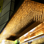 8m - 40m Led Curtain Icicle String Lights Outdoor Festive Lights Waterproof 120l