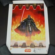 Darth Vader Signed By Dave Dorman Dynamic Forces Print 97 W/ Sketch And Coa 2005