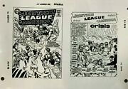 Production Art Justice League Of America 21 Cover And Splash, Mike Sekowsky Art