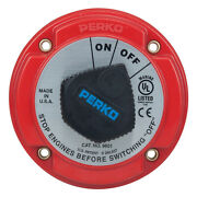Perko Marine 9601dp Battery Selector Disconnect Switch Dial 250 Amp 12-32vdc