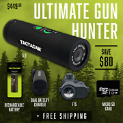 Tactacam Ultimate Gun Hunter Package 5.0 Camera Fts Charger Battery 64gb Sd