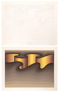 Roy Ahlgren National Crevice Pencil On Paper And Screenprint Both Signed In