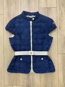 Auth Moncler Tondu Grenoble Down Quilted Belted Gilet Vest Jacket Giubbotto