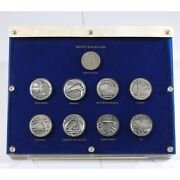 Rare 1962 Seattle Worlds Fair Silver Medals Set 9 Medals In Nice Capital Plastic