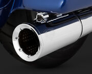 Vance And Hines Pro Pipe Exhaust 2 Into 1 System Chrome Harley Tri Glide 2017-2019