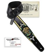 Walker And Williams Kb-52-blk Mexican Coat Of Arms On Black Carved Leather