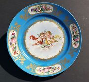 An Antique Hand Painted Sevres Plate Depicting With Putties