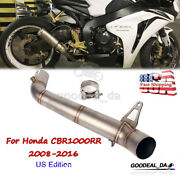 Motorcycle Mid Pipe Exhaust Connector Link Tube For Honda Cbr1000rr 2008-2016