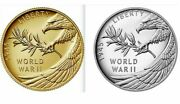 End Of World War Ii 75th Anniversary 24-karat Gold And Silver Medal Set - In Hand