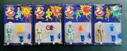 The Real Ghostbusters Kenner 1987 Nib 🔥 Yellow Text Wave 3 Hero Figures Lot A2