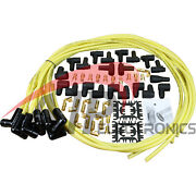 Transparent Yellow Black Ceramic Universal Spark Plug Wire Set For All Vehicles
