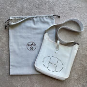Hermes White Clemence Evelyne Ii Pm   Sold Out Color At Hermes Retail 3300