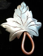 Hector Aguilar 940 Sterling Silver And Copper Pin/brooch-taxco, Mexico