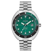 Men's Bulova Oceanographer Automatic Watch With Green Dial- Model 96b322