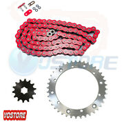 Red Drive Chain And Sprockets Kit For Yamaha Banshee 350 Yfz350 1989-2006
