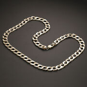 9 K Gold Solid Curb Chain - 22 - 10mm Rrp Andpound2200 {b3_22_zz} Uk Hallmark