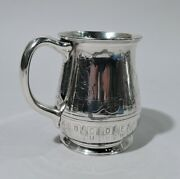 Mug - 16088h - Antique Christening Baby Cup - American Sterling Silver