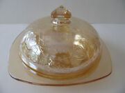 Floragold Louisa Square Butter Dish Excellent Condition