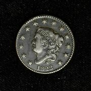 1823 1c Coronet Head Large Cent Xf+ Details Beautiful Us Type Coin