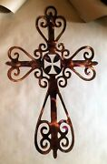 Ornamental Cross Metal Wall Art Decor Templar Insert 36 Tall