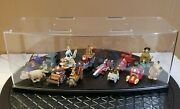 Kensin Wacky Races Limited Set Figure Limited Ed. Very Rare With Acrylic Case