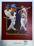 Ted Williams Signed Christopher Paluso Remarque Lithograph /406 Original Coa Bas