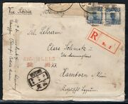 China 1926 Letter From Wuting With Scarce Cancellation Registered Cover