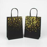 60x Gold Foil Confetti Black Paper Christmas Wedding Baby Shower Party Gift Bags