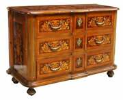 Commode / Dresser Dutch Style Floral Marquetry Vintage / Antique Handsome
