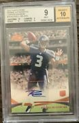 2012 Russell Wilson Topps Prime Auto Card 14/25 Rc Copper Rainbow Bgs 10 9 9.5