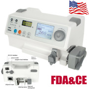 Icu Veternary Infusion Ivandfluid Syringe Pump+drug Library Audible Visual Alarm