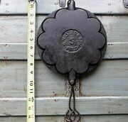 Rare Oand039mustad And Son Cast Iron Heart Stovetop Waffle Iron Mid 1800s Vintage