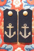 Military Antique Imperial Japanese Navy Epaulettes Badge Army Anchor 1934 Japan