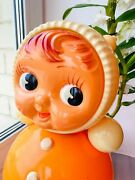 1979 Fine Vintage Russian Nevalyashka Celluloid Plastic Roly Poly Toy Doll 40