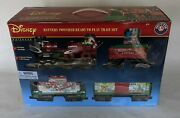 Brand New Large Disney Mickey Mouse Battery Powered Train Set 32 Piece Rc Remote