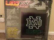 Ncaa Notre Dame Led/fx Wall Light 24x24 Great Color With Hardware