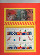 Australia Emergency Services Folder Stamps And 20 Banknote Numbered