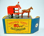 Matchbox 1-75 Series No. 07a Milk Float Orange Very Rare Silver Load Mint/boxed