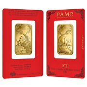 1 Oz Pamp Suisse Year Of The Ox Gold Bar In Assay